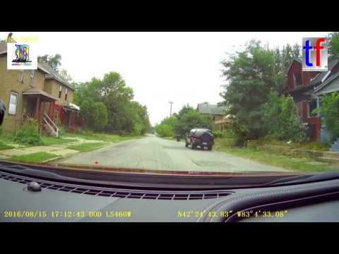 Detroit & Highland Park: Dashcam, Driving Around, What's Going On in The Neighborhoods, 08/15/2016.