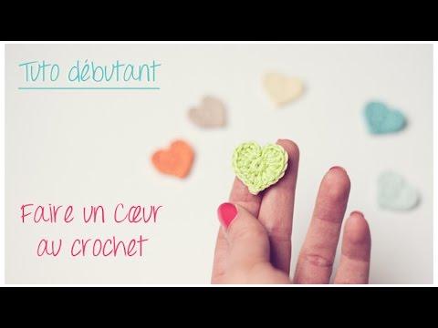 ... coeur au crochet pour débutant / Crochet an easy tiny heart - YouTube