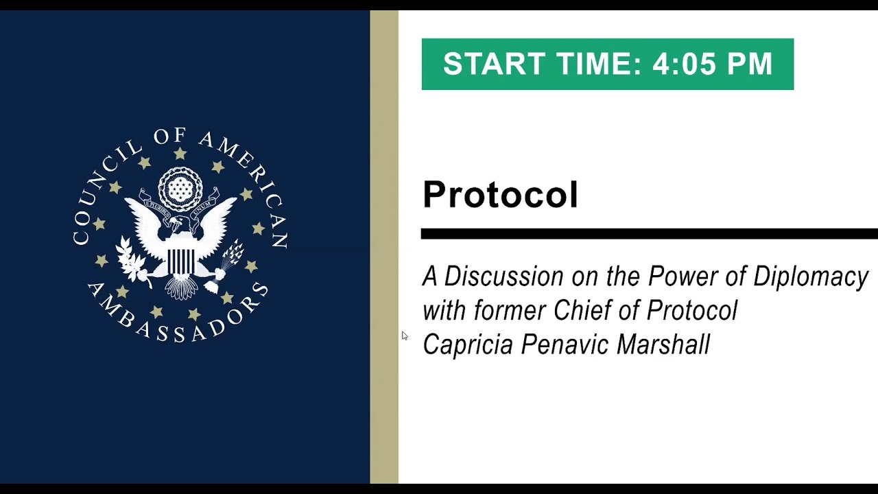 Protocol: A Discussion on the Power of Diplomacy