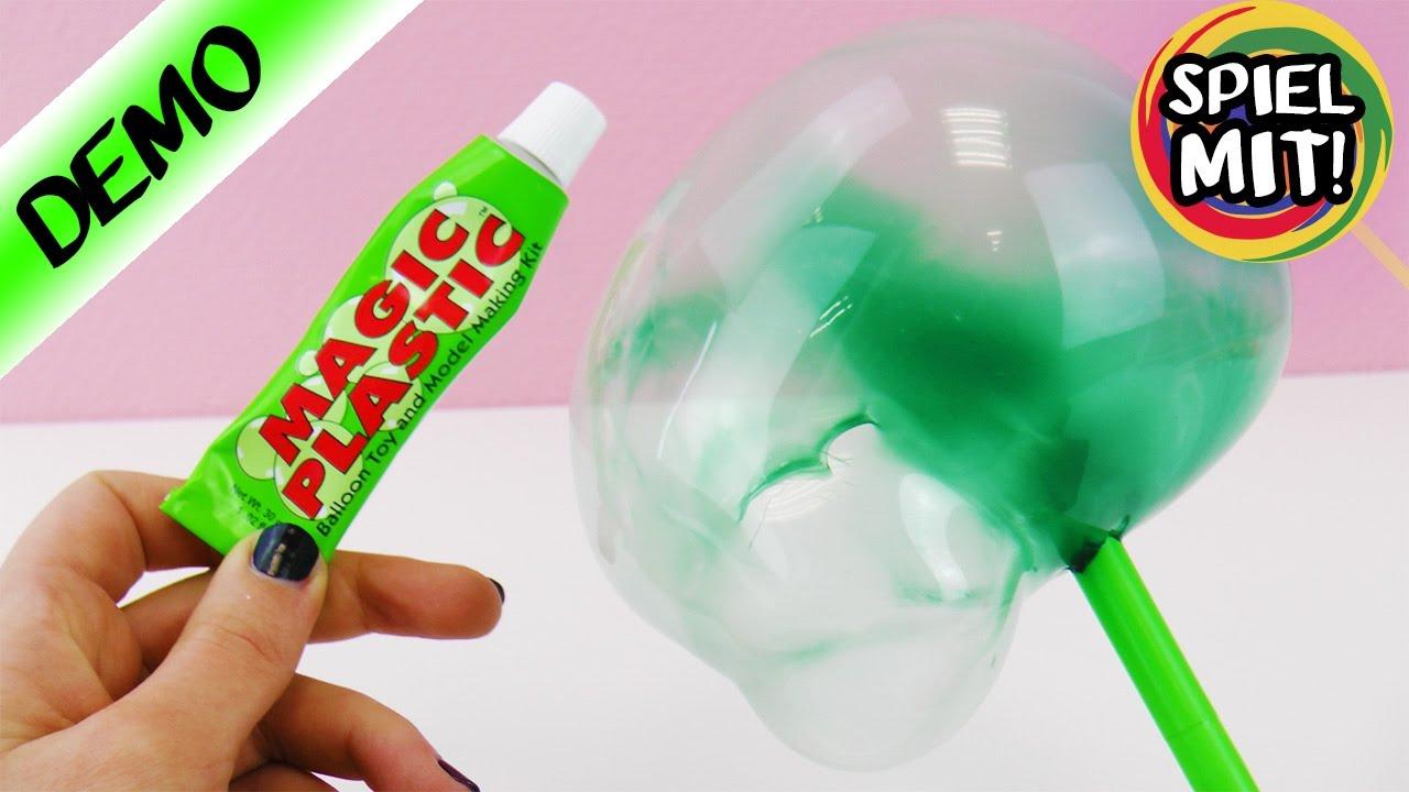 magic plastic luftballon selber machen magisches plastik zum aufblasen demo youtube. Black Bedroom Furniture Sets. Home Design Ideas