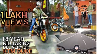 18 year BOY taking delivery of KTM duke