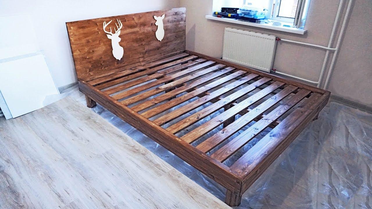 Как сделать кровать из досок фото 299
