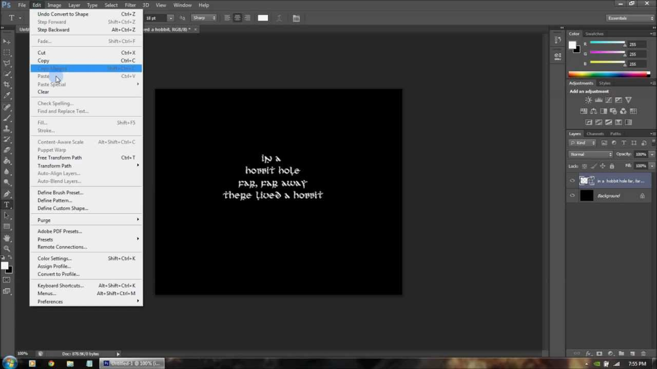 how to write a script in photoshop cs6