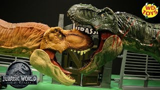 New Jurassic World Dino Rivals Super Colossal Tyrannosaurus Rex Unboxing T-Rex Vs Fallen Kingdom