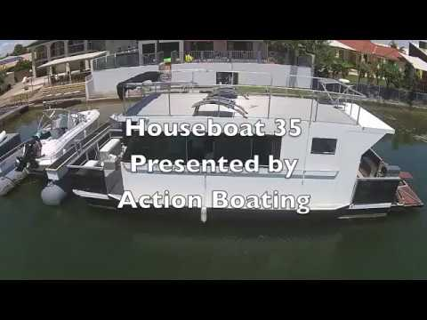 Houseboat 35 for sale action boating, boat sales, Gold Coast, Queensland, Australia