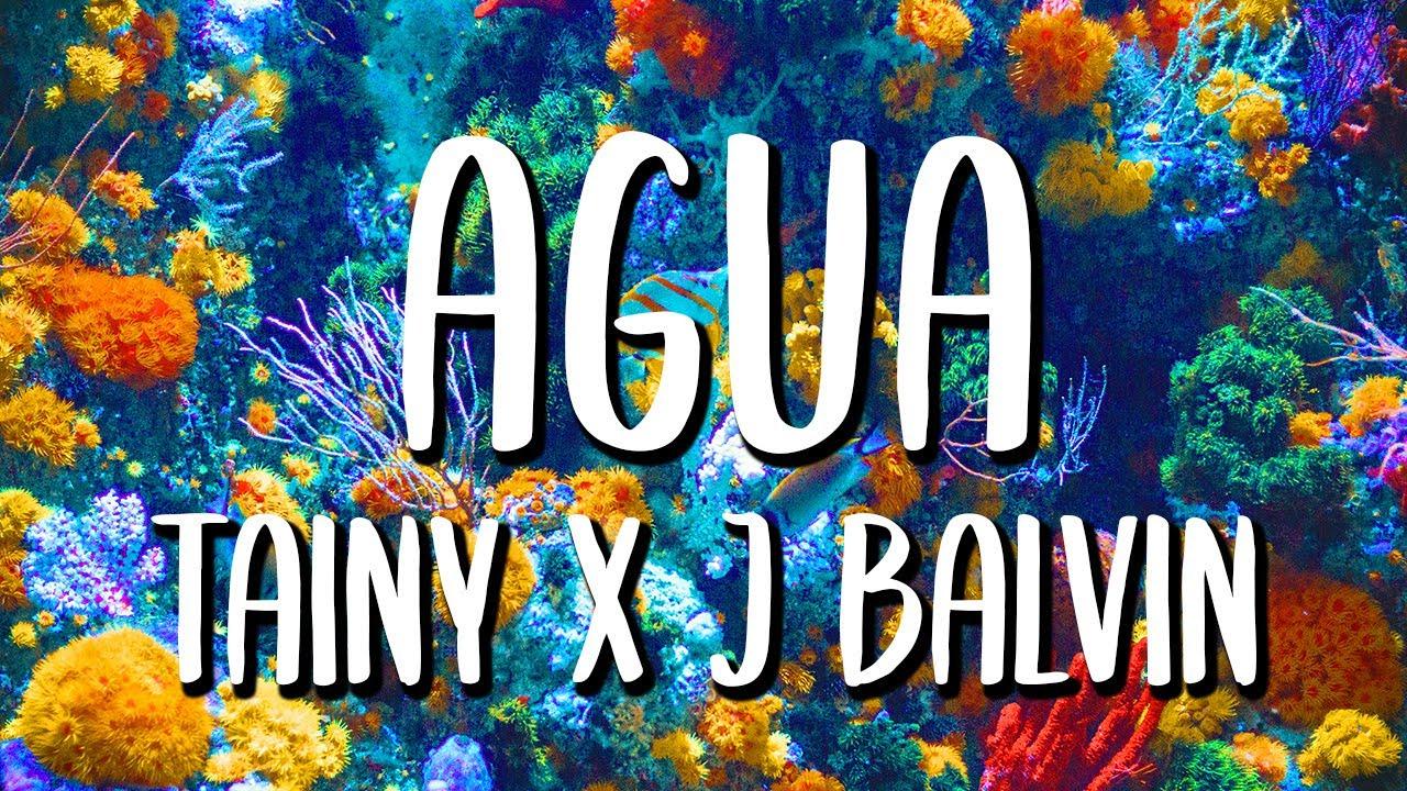 J Balvin, Tainy - Agua (Letra/Lyrics)