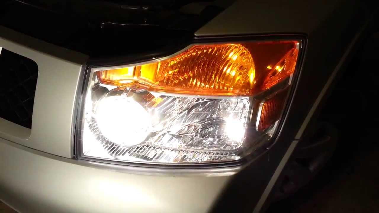 2012 Nissan Armada Testing New Headlight Bulbs Low