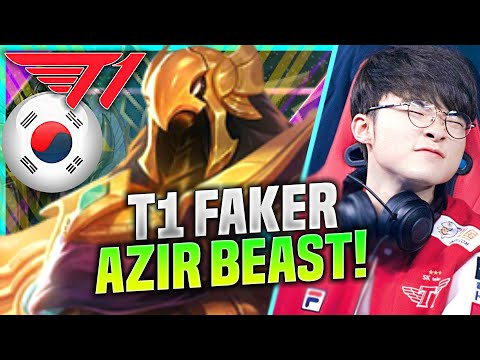 FAKER THE EMPEROR OF SHURIMA! - T1 Faker Plays Azir Mid vs Katarina! | KR SoloQ Patch 10.21