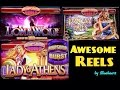 AWESOME REELS slot machines max bet BIG WIN COMPLIATION!