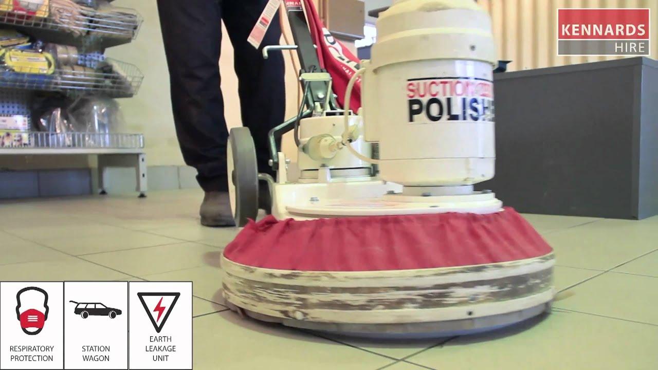 Operating A Floor Polisher YouTube - Stone floor polisher hire