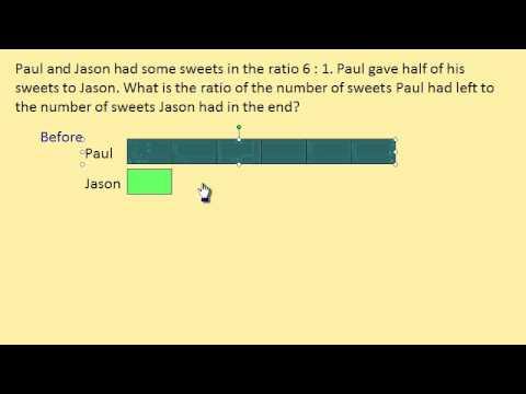 Ratio Word Problem using Block Model (Tape Diagram) - YouTube
