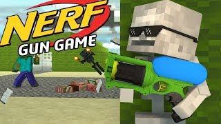 Monster School: NERF GUN GAME CHALLENGE!! - Minecraft Animation