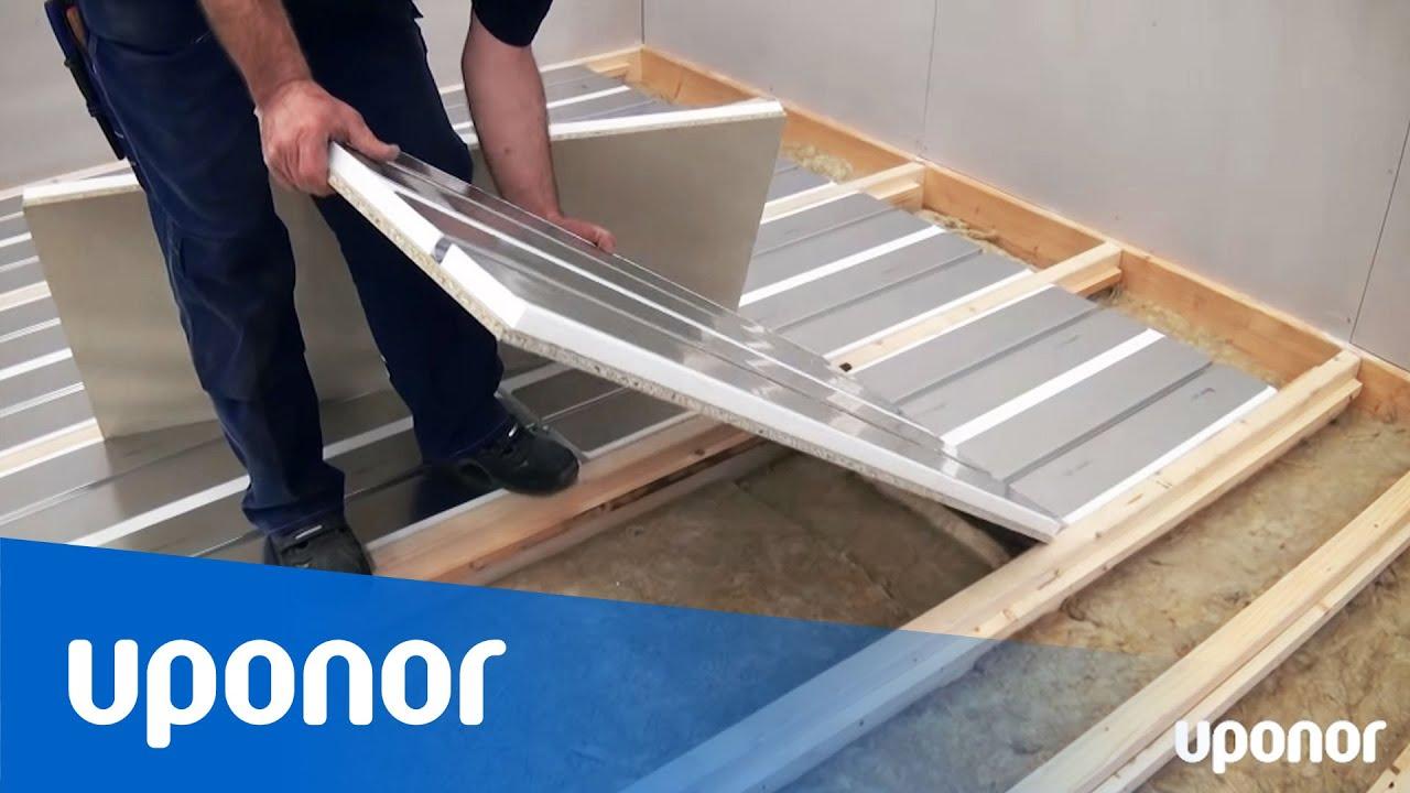 Cool Installation af gulvvarme med Uponors selvbærende IN06