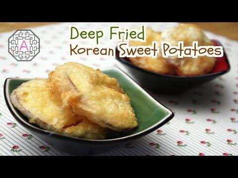 How to make korean sweet potato pancakes