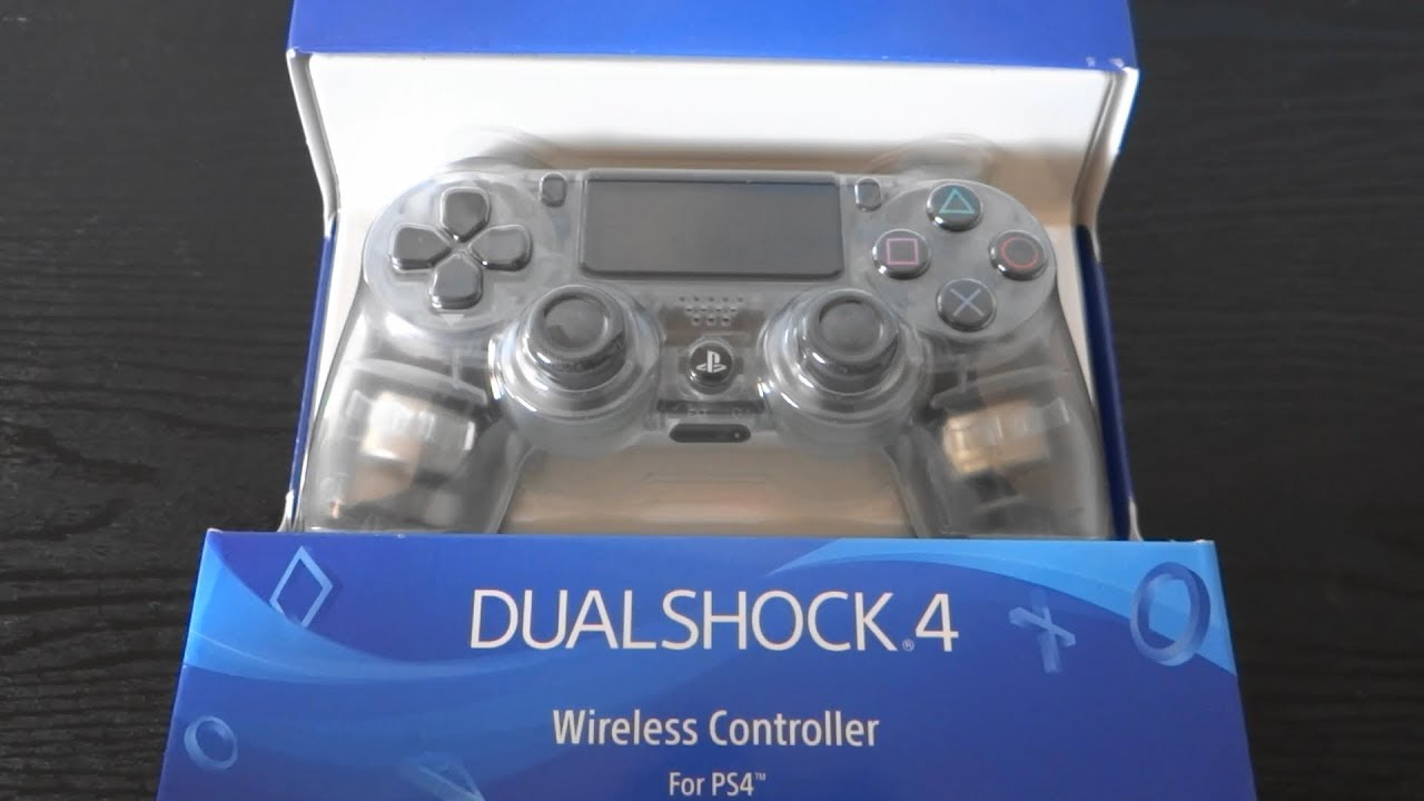 New DualShock 4 Wireless Controller - Crystal - Only at GameStop :UnBoxing