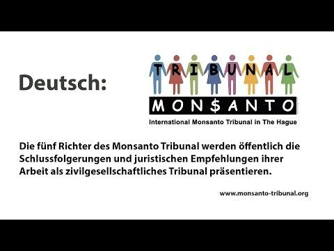 Monsanto tribunal German Audio channel