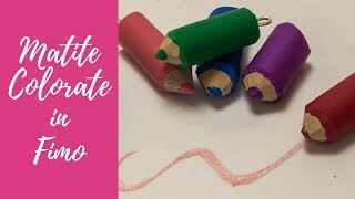 Tutorial: Matite Colorate in Fimo (polymer clay colored pencils)