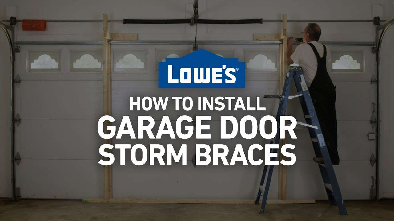 How To Install Garage Door Storm Braces Severe Weather Guide