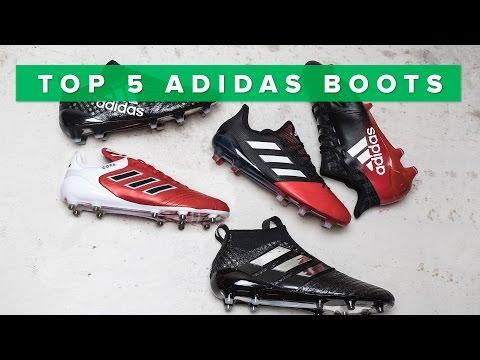 Top 5 des crampons adidas | Purecontrol, Purechaos, Copa 17.1 and X16