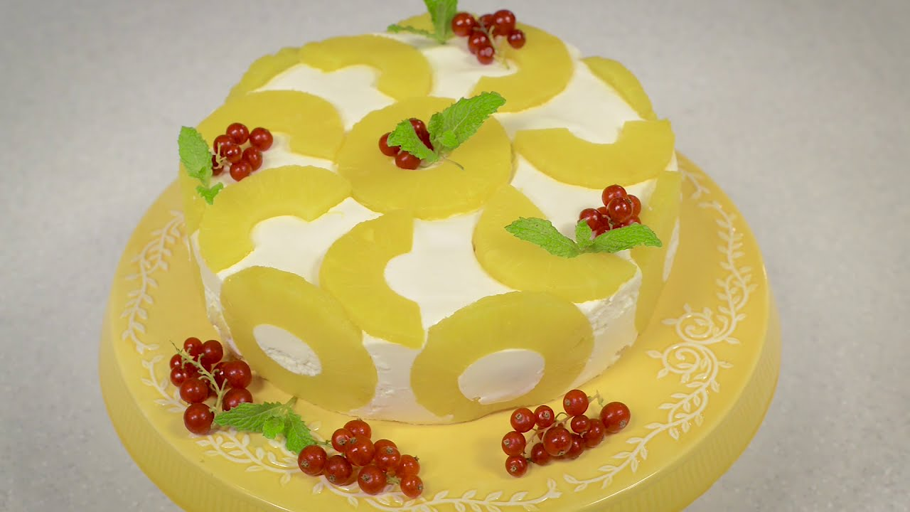 Tort cu iaurt si ananas jamila