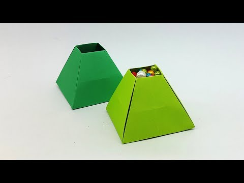 Paper Pyramid Box Easy Tutorial - DIY Origami 3D Pyramid Box
