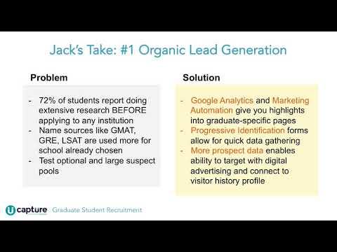 Capture Webinar: Graduate Recruitment Strategies That Make The Dean's List