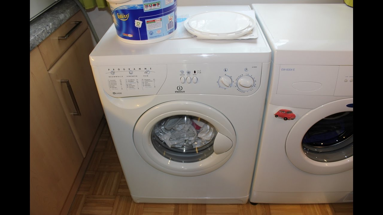 waschmaschine indesit w124x koch bunt 60 c youtube. Black Bedroom Furniture Sets. Home Design Ideas