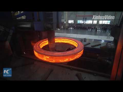Chinese steel mill unveils world's largest annular seamless forging piece