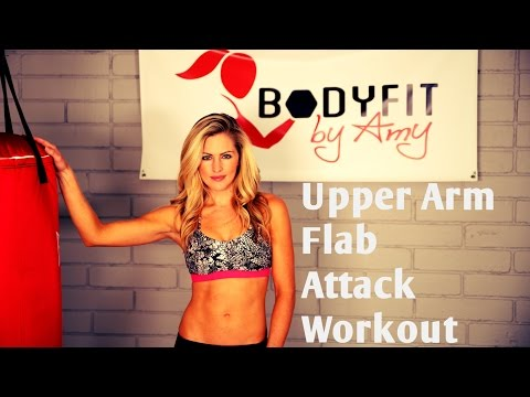 8 Minute Upper Arm Flab Attack to Tighten And Tone