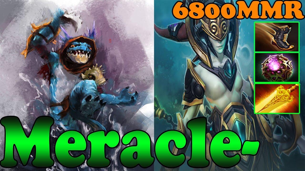 Dota 2 Meracle 6800 Mmr Plays Slark And Naga Siren Ranked Match