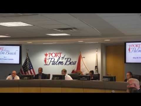 Port of Palm Beach Commission Meeting 08 27 2015