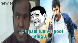 K Paul telugu comedy || k Paul spoof || k Paul comedy