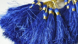 How to make tassels in 2 minutes