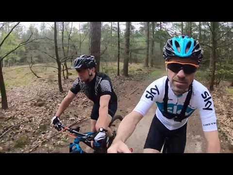 40,3km MTB Ermelo, Veluwe, kroketten met brood, schaapskooi met Guido