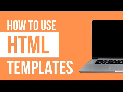 How To Use  A HTML Template - 2018 Step By Step Tutorial.