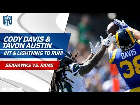Cody Davis' Leaping INT Sets Up Tavon Austin's Lightning-Fast TD! | Seahawks vs. Rams | NFL Wk 5