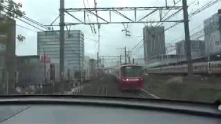 【倍速映像】10分で名鉄名古屋→内海 名古屋鉄道 常滑線,河和線,知多新線 前面展望