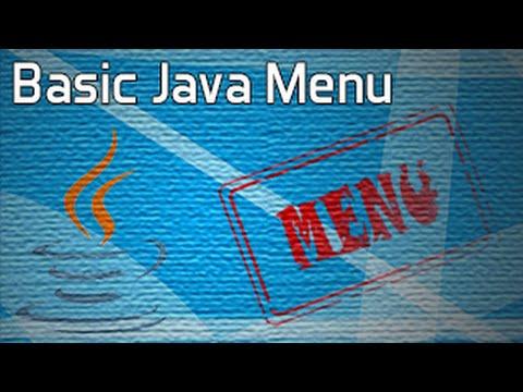 Basic Menu System in Java