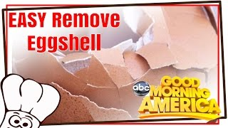 Easiest Way Remove Egg Shell: Good Morning America Featured Baking Buddy Hack