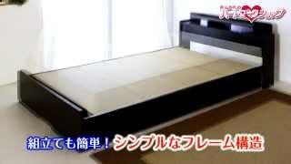 棚W照明引出付ベッドD-22 シングル/ブラック