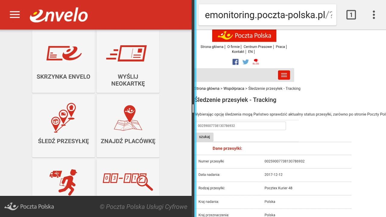 Sledzenie Przesylek W Poczta Polska Strona Www Lub Aplikacja Envelo Forumwiedzy Youtube