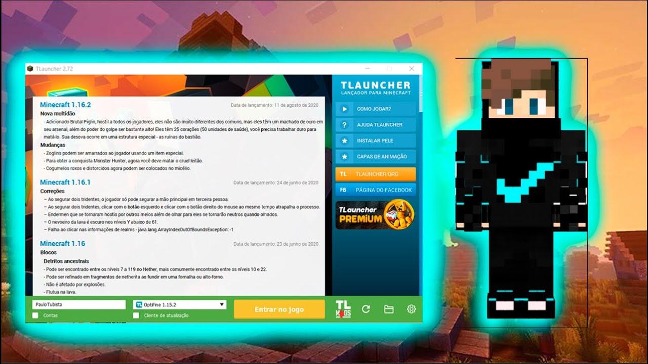 TUTORIAL DE COMO COLOCAR SKIN NO TLAUNCHER (Minecraft)