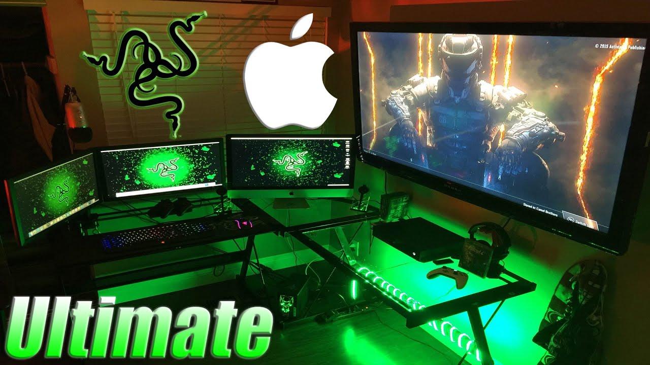 Gaming Setup ultimate) gaming setup tour 2016!!! - youtube