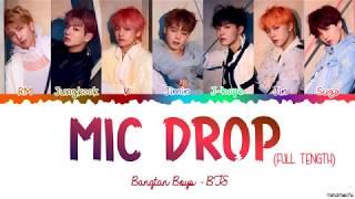 [Full Length Edition] BTS  - MIC Drop (Steve Aoki Remix) Lyrics [Color Coded Han_Rom_Eng]