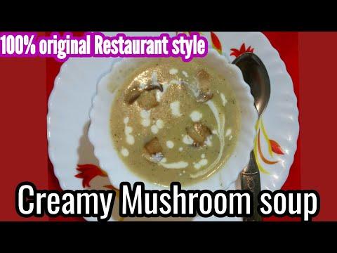 mushroom-soup-|-cream-of-mushroom-soup-|-kalan-soup-|-reataurant-style-|-soup-recipe-|-homemade