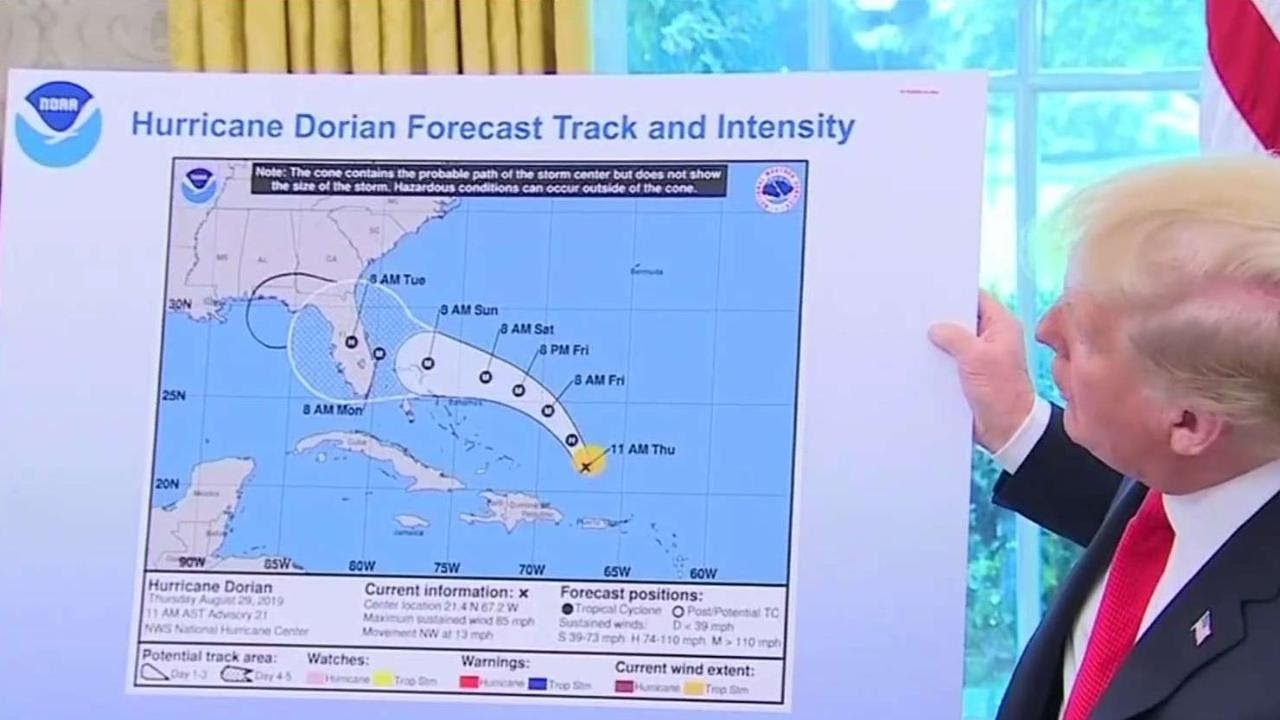 NOAA supports Trump in Hurricane Dorian controversy