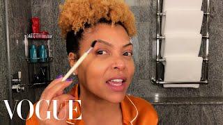 Taraji P. Henson's Guide to Defined Curls & PostFlight Skin Care | Beauty Secrets | Vogue