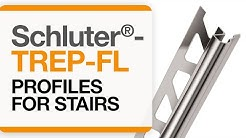 How to install tile edge trim on stairs: Schluter®-TREP-FL profile