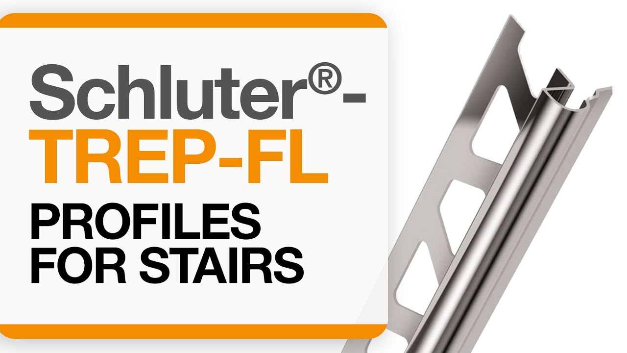 How To Install Tile Edge Trim On Stairs Schluter Trep Fl Profile
