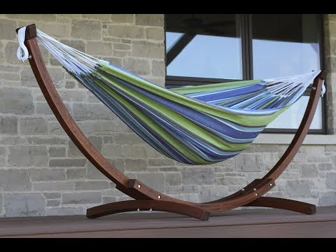 Charming How To Assemble The Vivere Solid Wood Double Hammock Combo